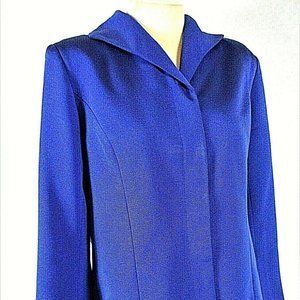 Victor Costa womens M blue button up jacket (B9)E1